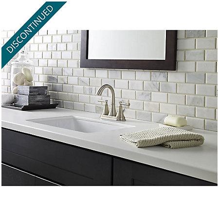 Brushed Nickel Cantara Centerset Bath Faucet - F-048-CRKK - 2