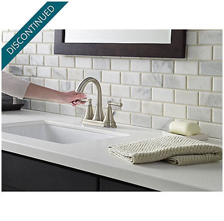Brushed Nickel Cantara Centerset Bath Faucet - F-048-CRKK - 3