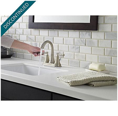 Brushed Nickel Cantara Centerset Bath Faucet - F-048-CRKK - 4