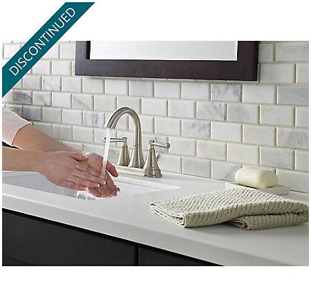 Brushed Nickel Cantara Centerset Bath Faucet - F-048-CRKK - 5