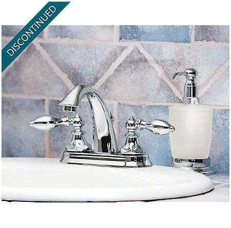 Polished Chrome Catalina Centerset Bath Faucet - F-048-E0BC - 4