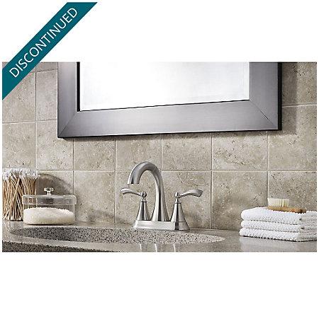 Brushed Nickel Grandeur Centerset Bath Faucet - F-548-GDKK - 4