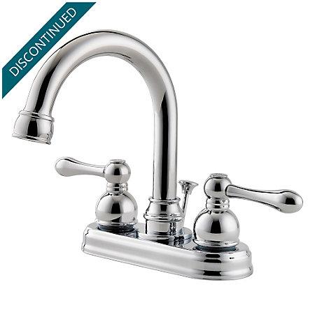 Polished Chrome Wayland Centerset Bath Faucet - F-048-LHCC - 1