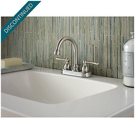 Brushed Nickel Wayland Centerset Bath Faucet - F-048-LHKK - 2