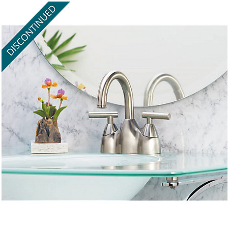 Brushed Nickel Contempra Centerset Bath Faucet - LF-048-NK00 - 2