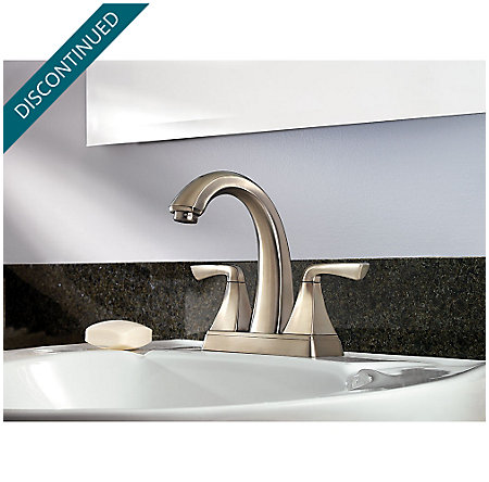 Brushed Nickel Selia Centerset Bath Faucet - F-048-SLKK - 2