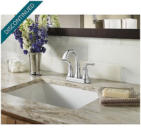 Polished Chrome Solita Centerset Bath Faucet - F-048-SOCC - 2