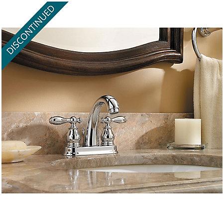Polished Chrome Unison Centerset Bath Faucet - F-048-UNCC - 2