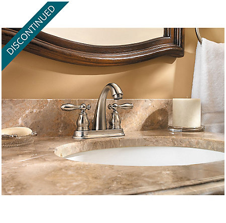Brushed Nickel Unison Centerset Bath Faucet - F-048-UNKK - 2