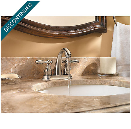Brushed Nickel Unison Centerset Bath Faucet - F-048-UNKK - 3