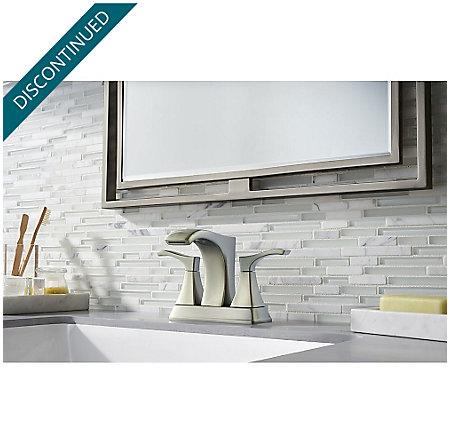 Brushed Nickel Venturi Centerset Bath Faucet - F-048-VNKK - 2