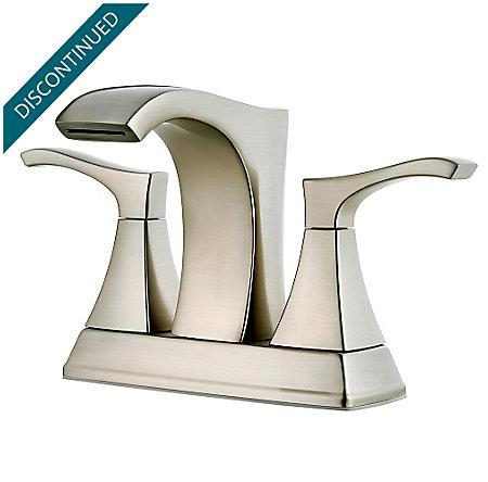 Brushed Nickel Venturi Centerset Bath Faucet - F-048-VNKK - 1