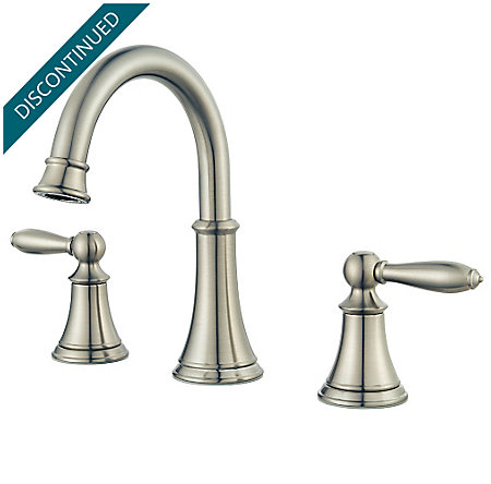 Brushed Nickel Courant Widespread Bath Faucet - F-049-COKK - 1