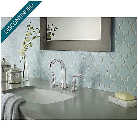 Polished Chrome Cassano Widespread  Bath Faucet - F-049-CSCC - 3