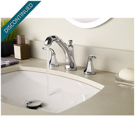 Polished Chrome Designer Widespread Bath Faucet - F-049-DECC - 3