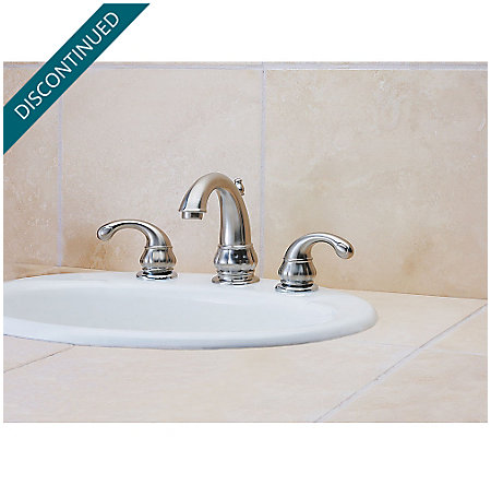 Brushed Nickel Treviso Widespread Bath Faucet - F-049-DK00 - 2