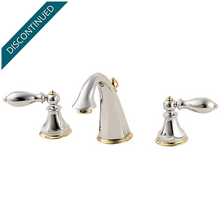 Polished Chrome / Polished Brass Catalina Widespread Bath Faucet - F-049-E0BB - 1