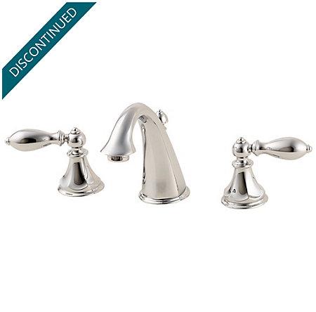 Polished Chrome Catalina Widespread Bath Faucet - F-049-E0BC - 1
