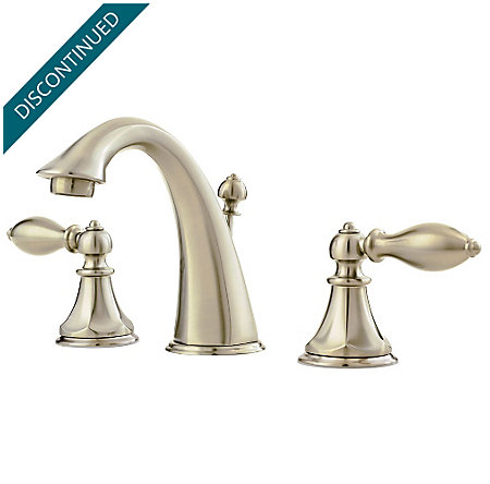 Brushed Nickel Catalina Widespread Bath Faucet - F-049-E0BK - 1