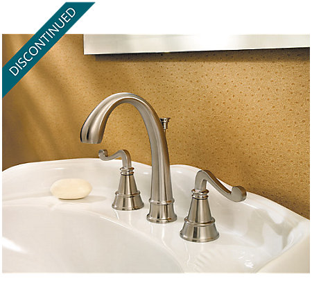 Brushed Nickel Falsetto Widespread Bath Faucet - F-049-FLKK - 2