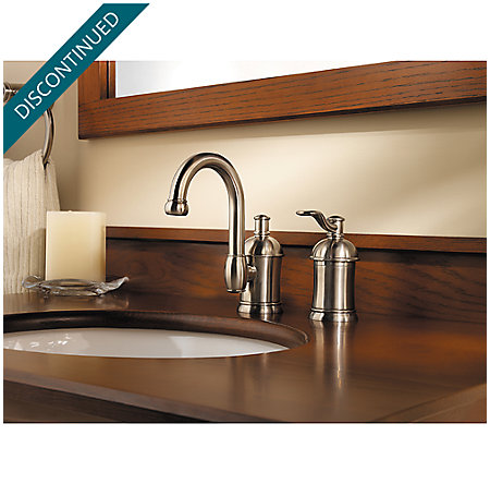 Brushed Nickel Amherst Widespread Bath Faucet - F-049-HA1K - 2