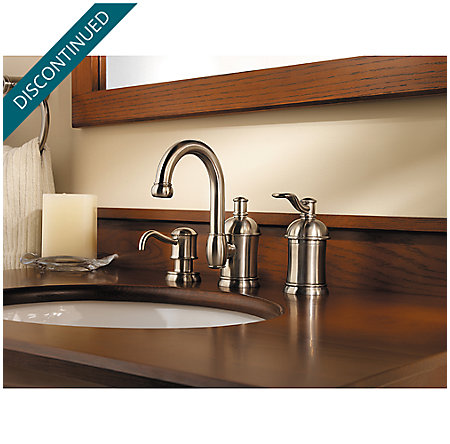 Brushed Nickel Amherst Widespread Bath Faucet - F-049-HA1K - 3