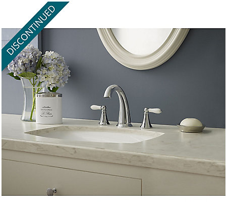 Polished Chrome Kaylon Widespread  Bath Faucet - F-049-KYCC - 2