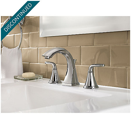 Polished Chrome Pasadena Widespread Bath Faucet - F-049-PDCC - 2