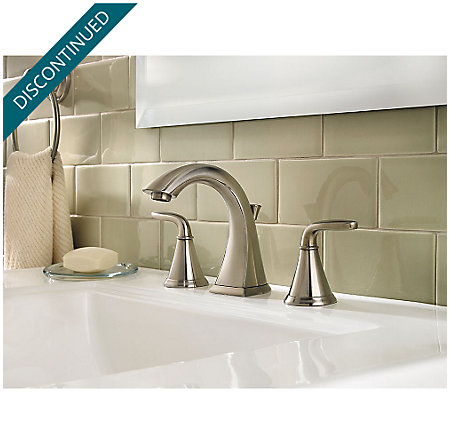 Brushed Nickel Pasadena Widespread Bath Faucet - F-049-PDKK - 2