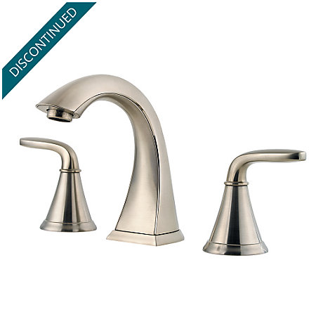 Brushed Nickel Pasadena Widespread Bath Faucet - F-049-PDKK - 1