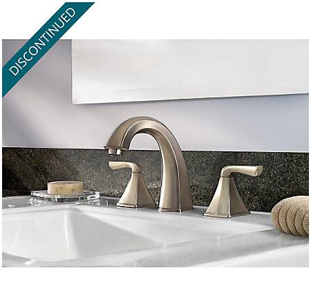 Brushed Nickel Selia Widespread Bath Faucet - F-049-SLKK - 2