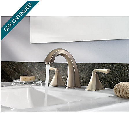 Brushed Nickel Selia Widespread Bath Faucet - F-049-SLKK - 3