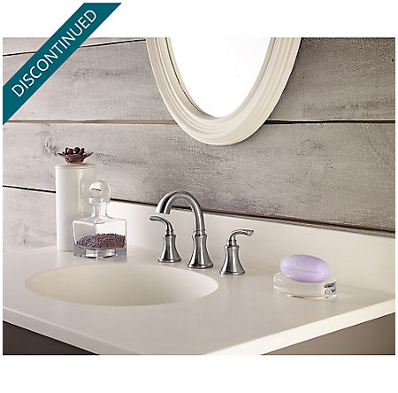 Brushed Nickel Solita Widespread Bath Faucet - F-049-SOKK - 2