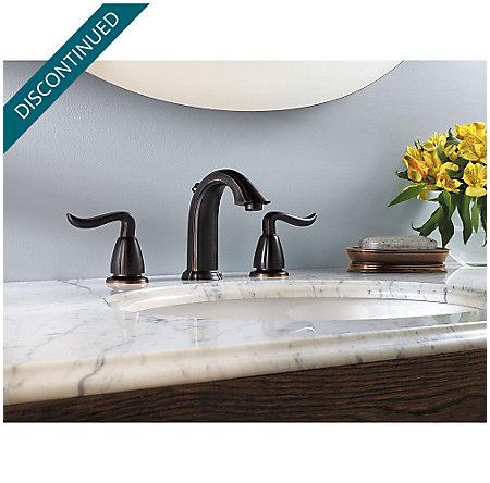 Tuscan Bronze Santiago Widespread Bath Faucet - F-049-ST0Y - 2