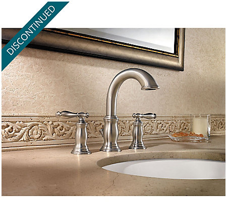Brushed Nickel Hanover Widespread Bath Faucet - F-049-TMKK - 2