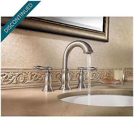 Brushed Nickel Hanover Widespread Bath Faucet - F-049-TMKK - 3