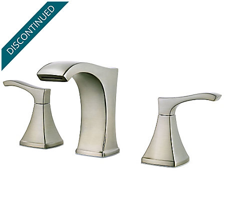 Brushed Nickel Venturi Widespread Bath Faucet - F-049-VNKK - 1