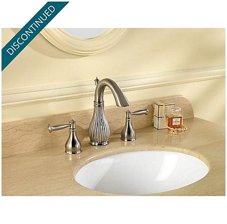 Brushed Nickel Virtue Widespread Bath Faucet - F-049-VTKK - 2