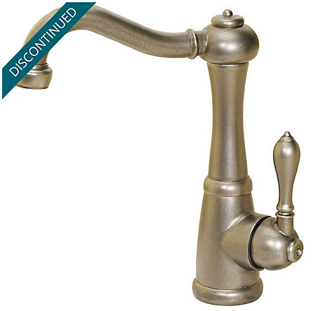 Rustic Pewter Marielle Bar/Prep Kitchen Faucet - F-072-M1EE - 2