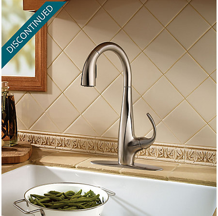 Stainless Steel Avanti 1-Handle, Pull-Down Kitchen Faucet - F-529-7ANS - 3
