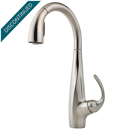Stainless Steel Avanti 1-Handle, Pull-Down Kitchen Faucet - F-529-7ANS - 1