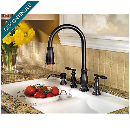 Tuscan Bronze Hanover 2-Handle, Pull-Down Kitchen Faucet - F-531-4TMY - 2