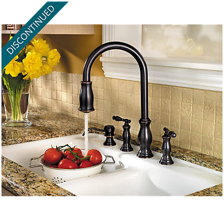 Tuscan Bronze Hanover 2-Handle, Pull-Down Kitchen Faucet - F-531-4TMY - 5