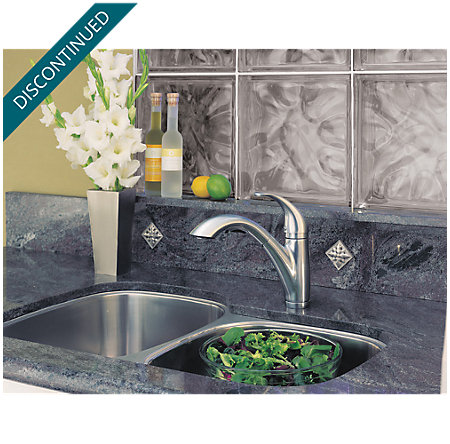 Stainless Steel Parisa 1-Handle, Pull-Out Kitchen Faucet - F-534-70SS - 3