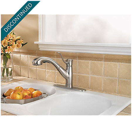 Stainless Steel Picardy 1-Handle, Pull-Out Kitchen Faucet - F-534-7RDS - 3