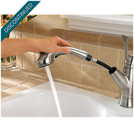 Stainless Steel Picardy 1-Handle, Pull-Out Kitchen Faucet - F-534-7RDS - 4