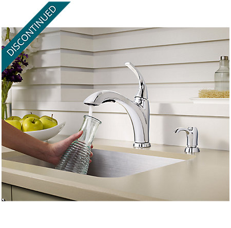 Polished Chrome Selia 1-Handle, Pull-Out Kitchen Faucet - F-534-PSLC - 4