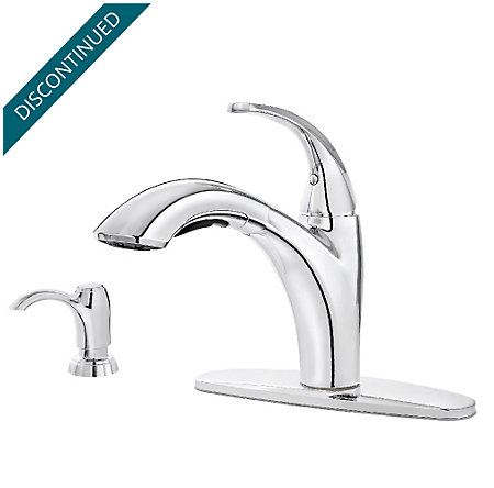 Polished Chrome Selia 1-Handle, Pull-Out Kitchen Faucet - F-534-PSLC - 2