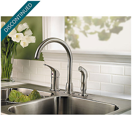 Stainless Steel Cagney 1-Handle Kitchen Faucet - F-WK1-680S - 2