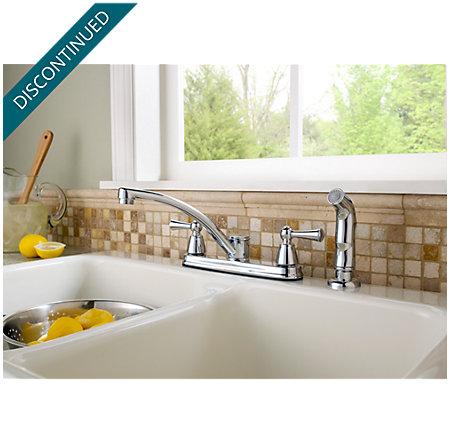Polished Chrome Hollis 2-Handle Kitchen Faucet - F-WK2-240C - 3